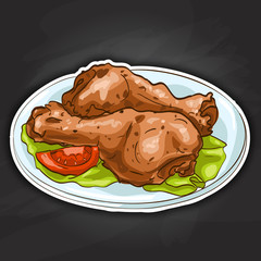 chicken legs color picture sticker