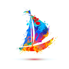 Boat of splash paint