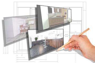 Moderne Küchenplanung