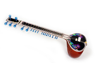 colorful sitar