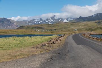 Iceland fjord road