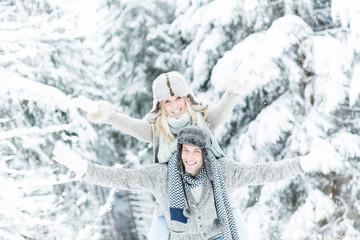winter love couple