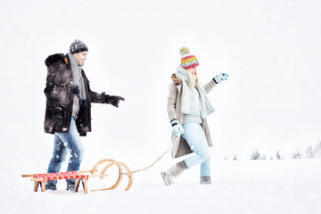 couple wintertime