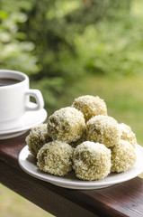 Truffles with oatmeal Avocado coconut lime and peanut butter