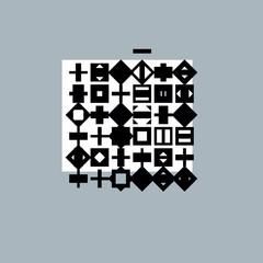 Abstract graphic art, vector geometric illustration.