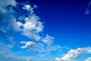 Blue sky clouds beautiful background,