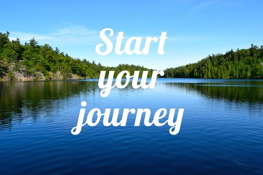 lifestyle concept - start your journey