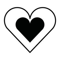 heart card isolated icon design