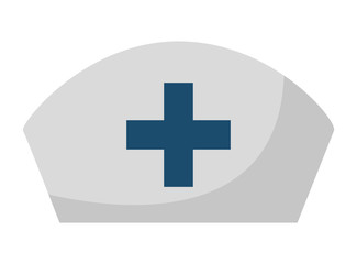 nurse hat isolated icon design