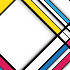 Abstract geometric background. Cubism style concept design
