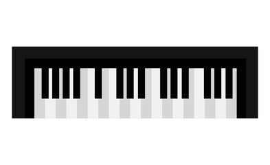 Piano keyboard music instrument icon design, vector illustration image.