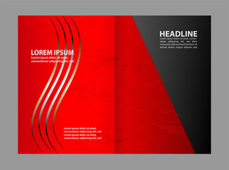Abstract vector background for brochure or leaflet