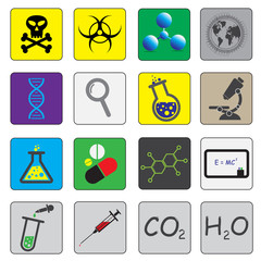 Science theme icons
