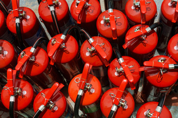 Closeup of Chemical fire extinguisher