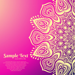 Vector Beautiful Mandala.
