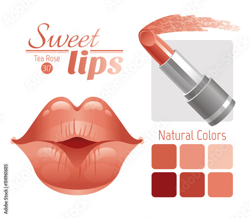 quotsexy kissing woman lips with natural beige lipstick and