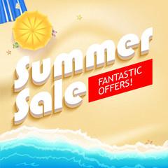 Summer sale bright vector