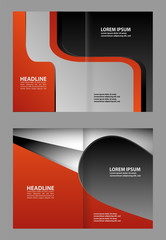 Vector Abstract template brochure design with orange and black