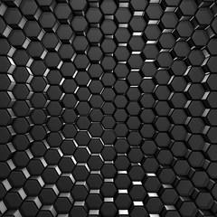 Abstract Futuristic Dark Metallic Wall Background
