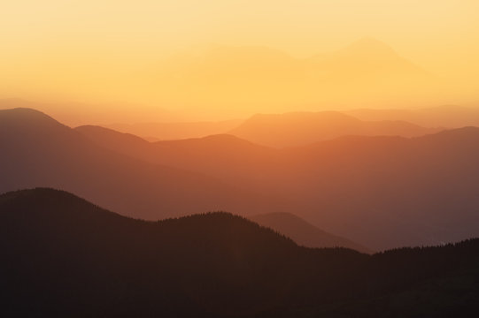 Orange and yellow sunset