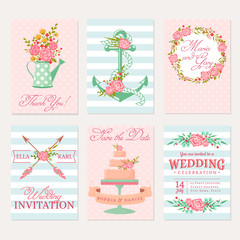 Wedding cards and invitations.