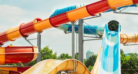 Tobogan, water slide, summer vacation fun activities