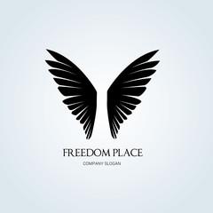 Wing logo, Freedom symbol, Hotel brand identity