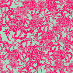Rose Quartz and Serenity trendy colors of the year 2016 in the seamless pattern.