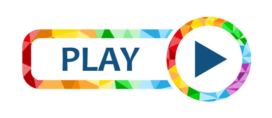 PLAY Polygon Pattern Button