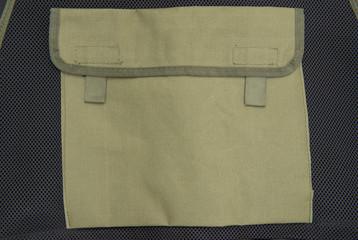 Close-up texture of soldier vest ,bag behind vest