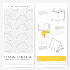 Business brochure flyer design layout template: Graphic design brochure with geometric pattern background