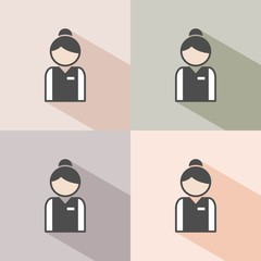 Receptionist icon in four colors