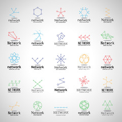 Network Icons Set - Isolated On Gray Background - Vector Illustration, Graphic Design. For Web, Websites