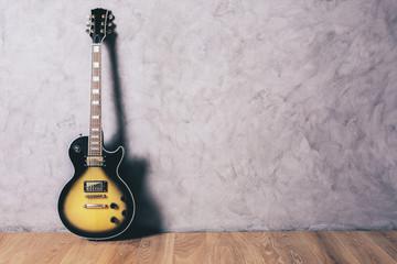 Electric guitar in interior