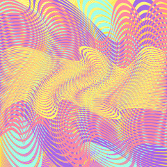 Moving colorful lines of abstract background. Vector illustratio