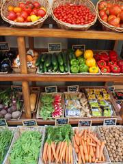 Auslage eines Obst- und Gemüseladens (Korsika)