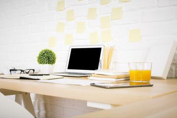 Creative designer desktop sideview