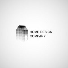 Home design and construction. Vector Icon. Business sign template for consttruction and renovation businesses