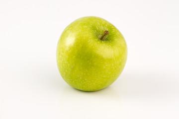 Green Apple Standing on wihte