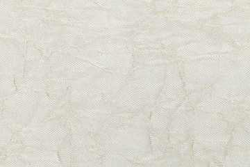 White cream background from textile material. Fabric with natural texture.