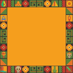 mexican frame ornament