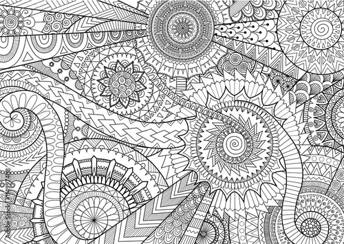 Complex Mandalas Design For Adult Coloring Book