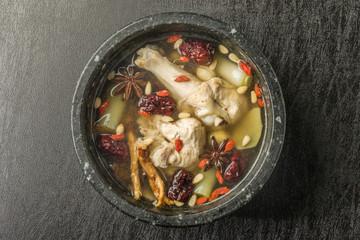 韓国薬膳スープ 医食同源 medicinal herbs soup Chinese food