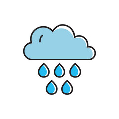 Rain Cloud as Rainy Weather Concept Icon