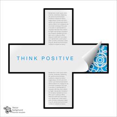 Vector graphics #Plus symbol_Think positive