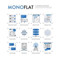 Network Technology Monoflat Icons