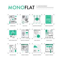 Web Development Monoflat Icons