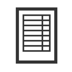 Spreadsheet Icon. Professional, pixel perfect icons optimized for both large and small resolutions.