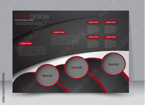 Flyer, brochure, billboard template design landscape orientation for education, presentation, website.