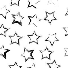Seamless abstract stars pattern